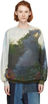 Bless Multicolor Holiday Fire Long Sleeve T-Shirt