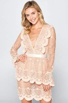 Racine Cherish Scallop-Lace Minidress