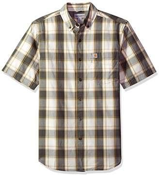 Carhartt Men's Essential Plaid Button-Down Short Sleeve Shirt