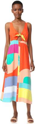 Mara Hoffman Tie Front Dress $365 thestylecure.com