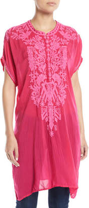 Johnny Was Lania Embroidered Long Tunic, Petite