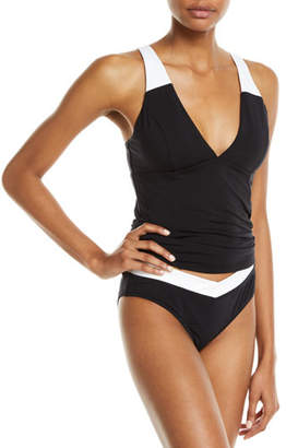Jets Classique V-Neck Colorblock Tankini Swim Top
