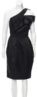 J. Mendel One Shoulder Knee-Length Dress