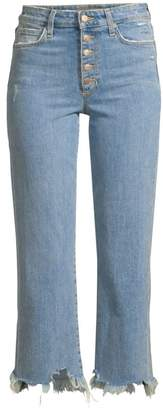 Joe's Jeans Wyatt High-Rise Raw Hem Ankle Jeans