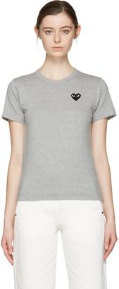 Comme des Garçons Play Grey Heart Patch T-Shirt $110 thestylecure.com