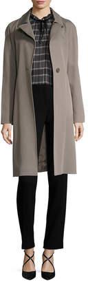 Cinzia Rocca Belted Wool-Blend Coat