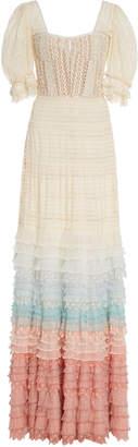 Jonathan Simkhai Tiered Cotton-Blend Lace Gown