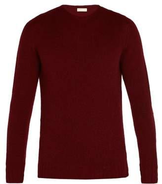 Etro Crew Neck Wool Sweater - Mens - Burgundy