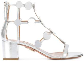 Aquazzura metallic chunky heel sandals