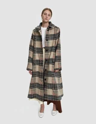 Walk Of Shame Long Checked Coat