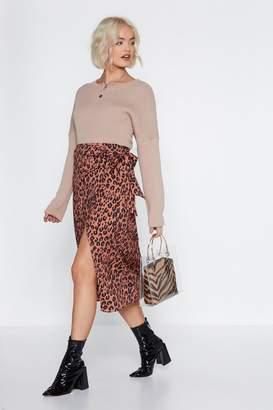 Nasty Gal Help Meow-t Leopard Skirt