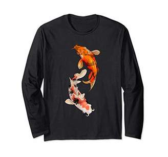 Yin & Yang Japanese Koi Fish Swimming Yin Yang Long Sleeve Shirt