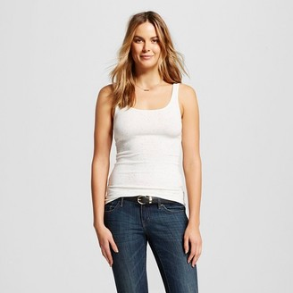 Merona Women's Textured Tank Tops White/Black L $8 thestylecure.com