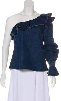 Tanya Taylor Tiered One-Shoulder Top