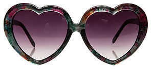 *MKL Accessories The Floral Heart Sunglasses