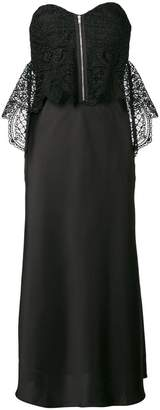 Self-Portrait lace bodice satin dress