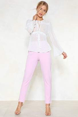 Nasty Gal What Do You Pink Tailored Pants