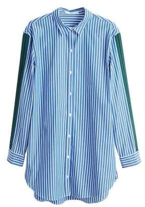 MANGO Decorative trims striped shirt