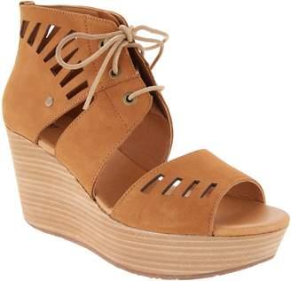 CAT Footwear CAT Cutout Leather Wedge Sandal - Alma