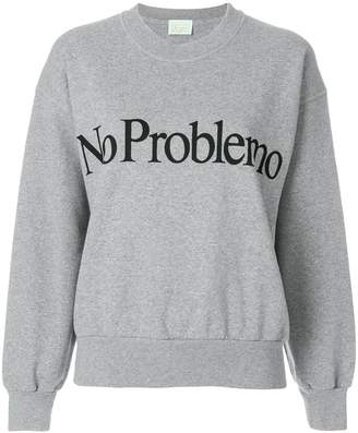 Aries no problemo print sweatshirt