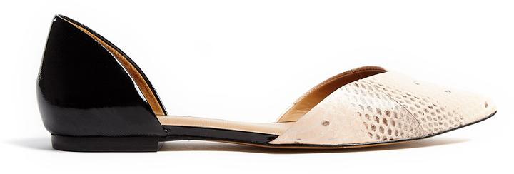 3.1 Phillip Lim Devon D'orsay Two Tone Flat Shoes