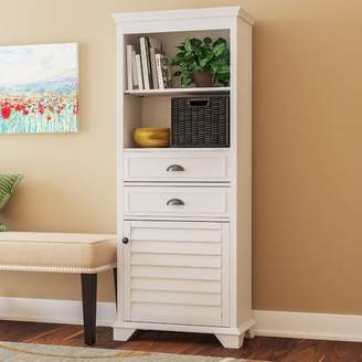 Three Posts Crenshaw 2 Drawer Tall Accent Cabinet