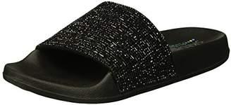 Skechers Women's Pops up-Summer Rush-Rhinestone Shower Slide Sandal