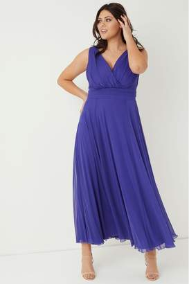 Scarlett & Jo Womens Chiffon Maxi Dress - Purple