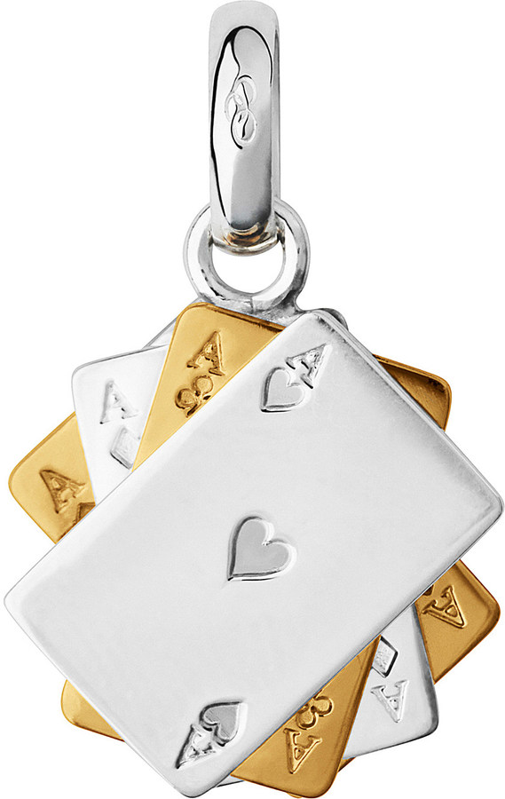 Links Of LondonLinks of London Sterling Silver and 18-carat gold poker cards charm