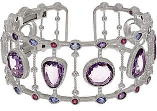 Judith Ripka Sterling 17.00 cttw GemstoneCuff Bracelet