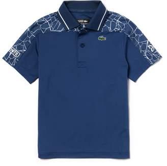Lacoste Boys' SPORT Stretch Technical Jersey Polo- x Novak Djokovic Off Court Premium Edition