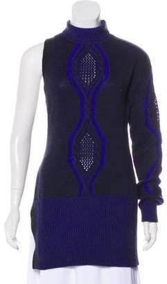 Versace Wool Rib Knit Sweater