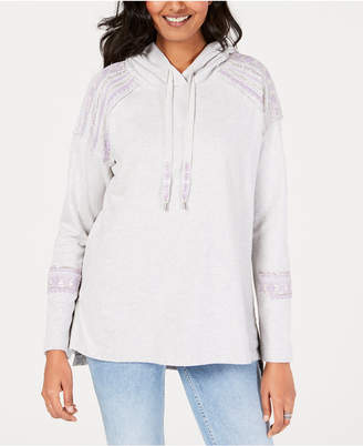 Style&Co. Style & Co Cotton Embellished Hoodie Sweatshirt