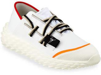 Giuseppe Zanotti Men's Neoprene Textured-Sole Running Dad Sneakers