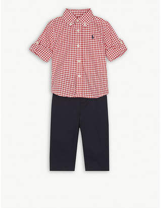 Ralph Lauren Gingham shirt and chino set 3-24 months