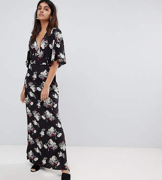 Influence Tall Kimono Sleeve Floral Maxi Dress