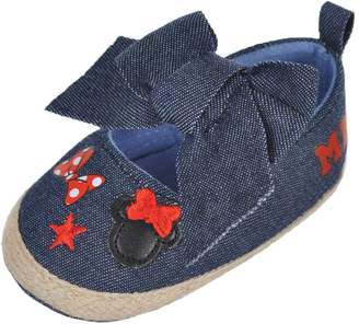 "Disney Minnie Mouse Baby Girls' ""Chambray Icon"" Espadrille Booties"