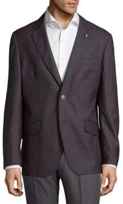 Tailorbyrd Two-Tone Mini Check Jacket