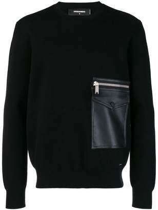 DSQUARED2 zip pocket sweater