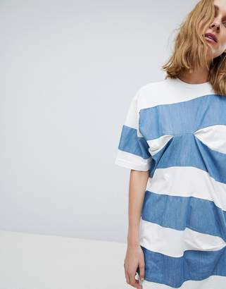 Asos Thick Stripe T-Shirt with Tuck Detail