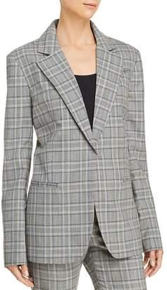 Milly Eva Plaid Wool Blazer