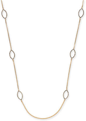 "INC International Concepts I.N.C. Gold-Tone Pavé Navette Station Necklace, 36"" + 3"" extender, Created for Macy's"