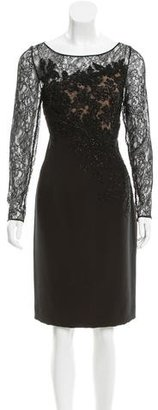 Carmen Marc Valvo Beaded Lace Dress $195 thestylecure.com