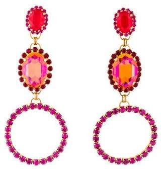 Vickisarge Large Crystal Clip-On Earrings