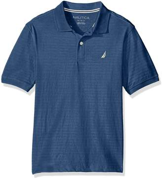 Nautica Toddler Boys' Short Sleeve Texture Deck Polo