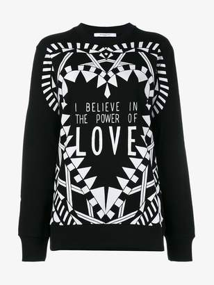 Givenchy I Believe In The Power Of Love Sweatshirt
