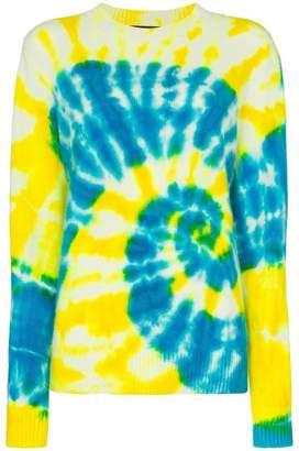 The Elder Statesman tie dye cashmere jumper