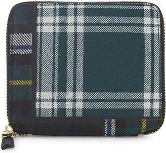 Comme des Garcons Tartan square zip-around wallet