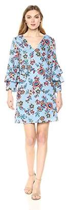 Nicole Miller New York Women's Tier Bell Sleeve a-line Dress