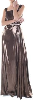Alberta Ferretti Lame Silk-blend Gown